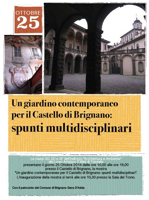 Locandina di invito alla mostra di Brignano