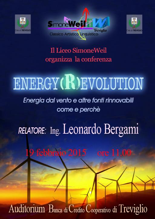 locandina della conferenza energy (R)evolution